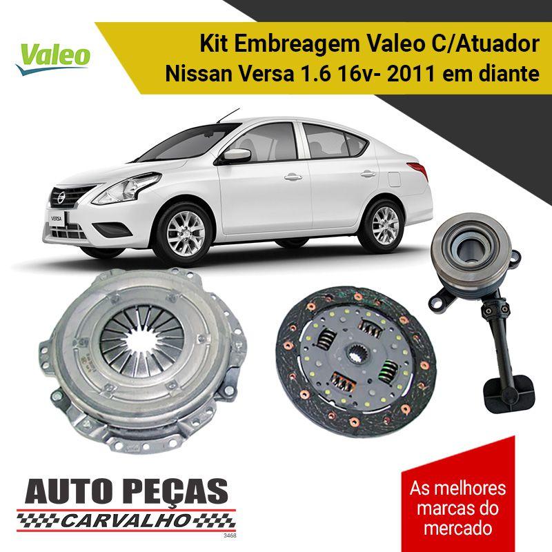 Embreagem + Atuador Nissan Versa 1.6 16v 2011 2012 2013 2014 2015 2016 2017 2018 2019 2020