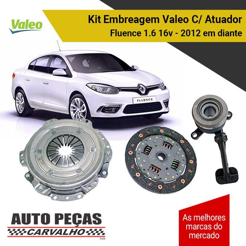 Embreagem + Atuador Renault Fluence 1.6 16v 2012 2013 2014 2015 2016 2017 2018 2019 2020