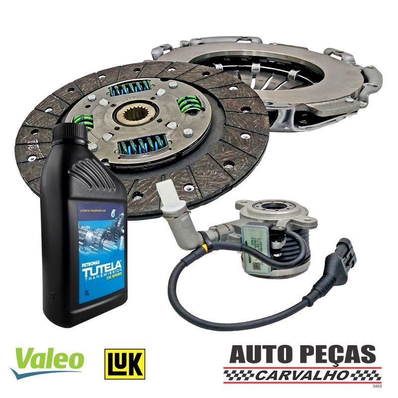 Kit de Embreagem (VALEO) Dualogic + Atuador (LUK) + Óleo CS SPEED - Palio Weekend 1.6 16V / 1.8 16V  - 2010 2011 2012 2013 2014 2015 2016 2017 2018 2019