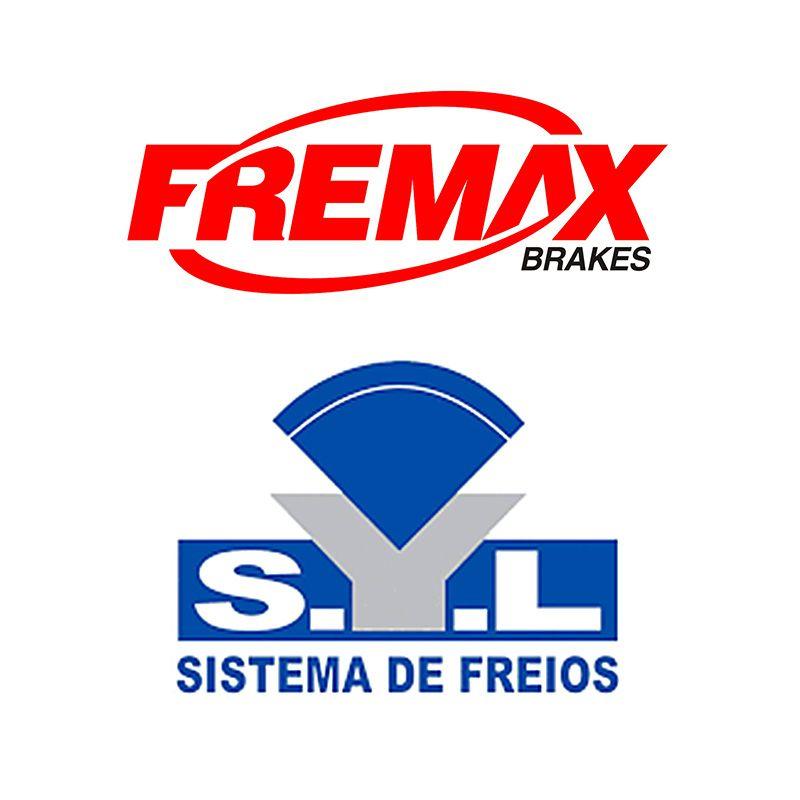 Kit Disco de Freio (FREMAX) + Pastilha de Freio (SYL) - Novo Palio 1.0 / 1.4 - 2012 2013 2014 2015 2016 2017 2018 2019