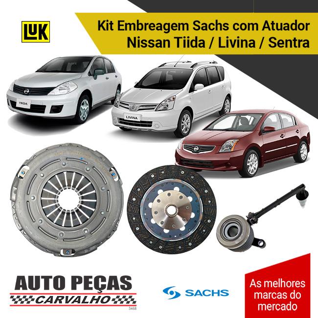 Kit Embreagem com Atuador Nissan Sentra / Livina / Tiida
