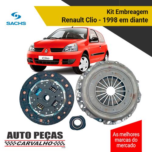 Kit Embreagem Completo Renault Clio 1.6 1999 até 2015 TODOS
