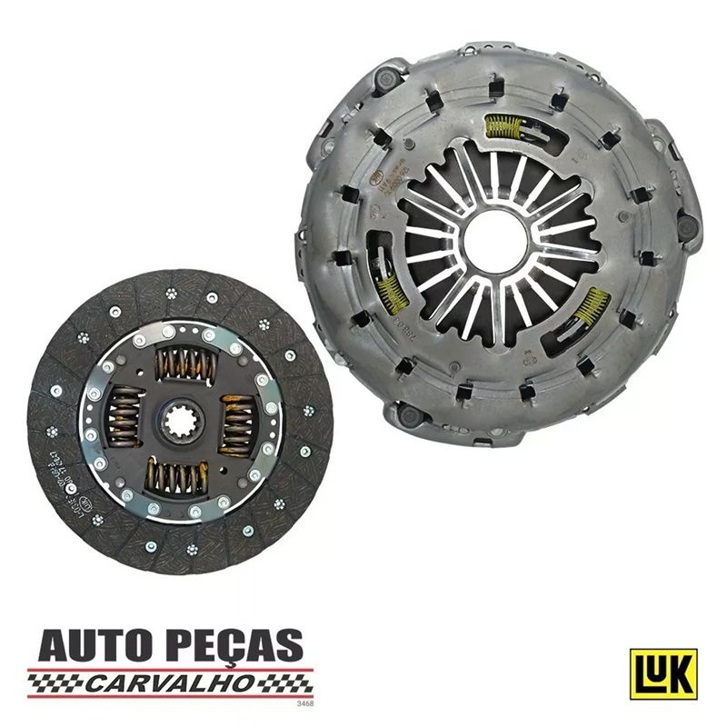 Kit Embreagem (LUK) - Chevrolet S10 2.8 (MWM / SPRINT / TCA Turbo) - 2000 2001 2002 2003 2004 2005 2006 2007 2008 2009 2010 2011