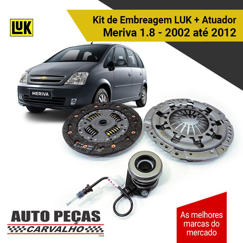 Kit Embreagem (LUK) Meriva 1.8 8 válvulas - 2002 2003 2004 2005 2006 2007 2008 2009 2010 2011 2012 (exceto Easytronic)
