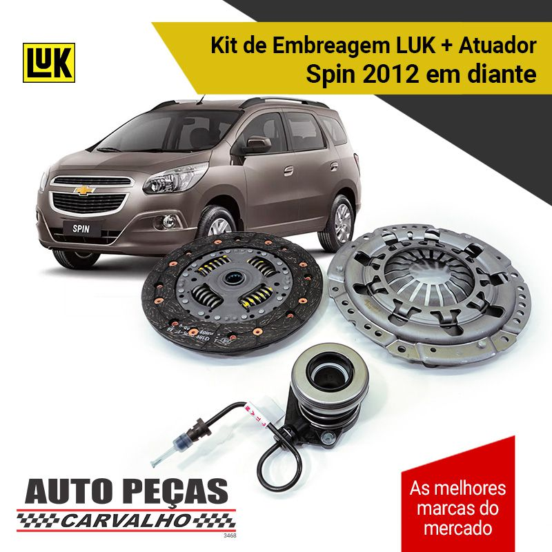Kit Embreagem (LUK) Spin 1.8 8 válvulas - 2012 2013 2014 2015 2016 2017 2018 2019