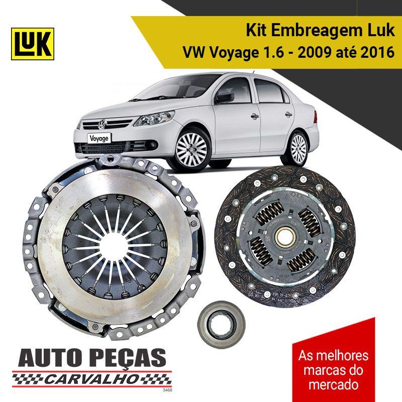Kit Embreagem (LUK) - Volkswagen Voyage 1.6 - 2009 2010 2011 2012 2013 2014 2015 2016