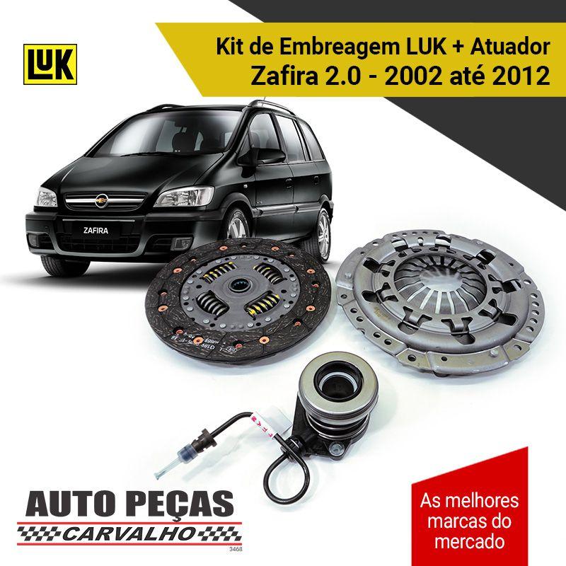 Kit Embreagem (LUK) Zafira 2.0 8 válvulas - 2002 2003 2004 2005 2006 2007 2008 2009 2010 2011 2012