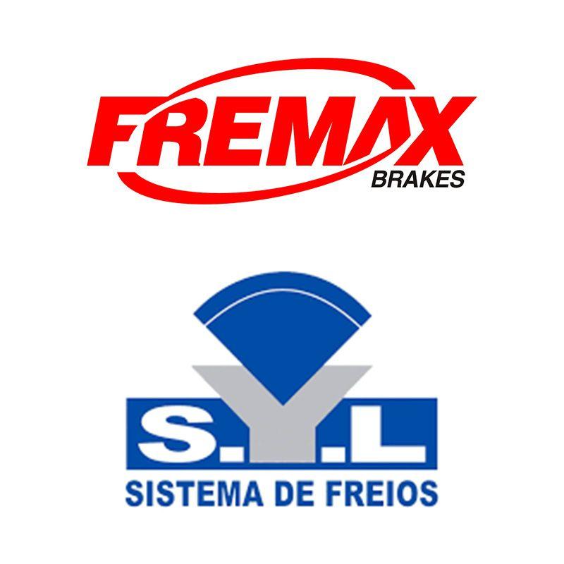 Kit Freio Disco + Pastilha Honda Fit 2004 2005 2006 2007 2008 (Fremax - SYL)