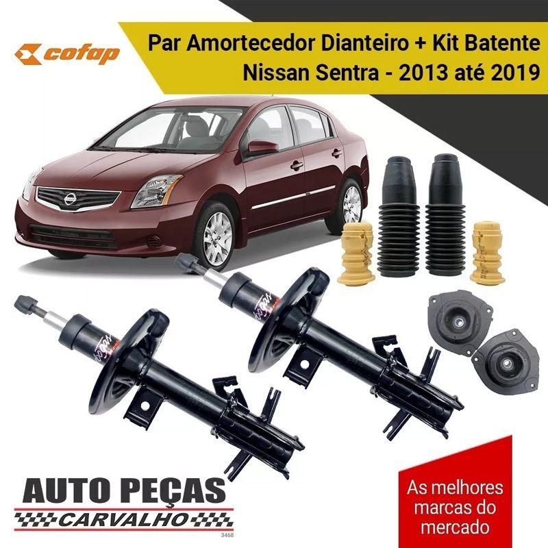 Par de Amortecedor Dianteiro (COFAP) + Kit Batente - Nissan Sentra - 2013 2014 2015 2016 2017 2018 2019
