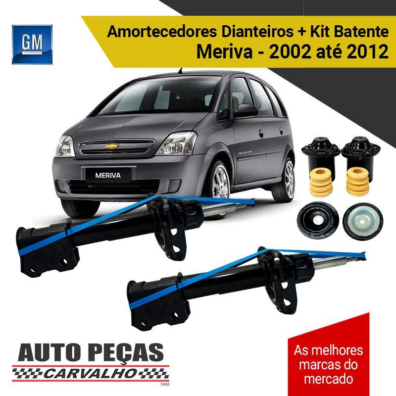 Par de Amortecedor Dianteiro (GM) + Kit Batente - Corsa / Meriva / Montana - 2002 até 2012