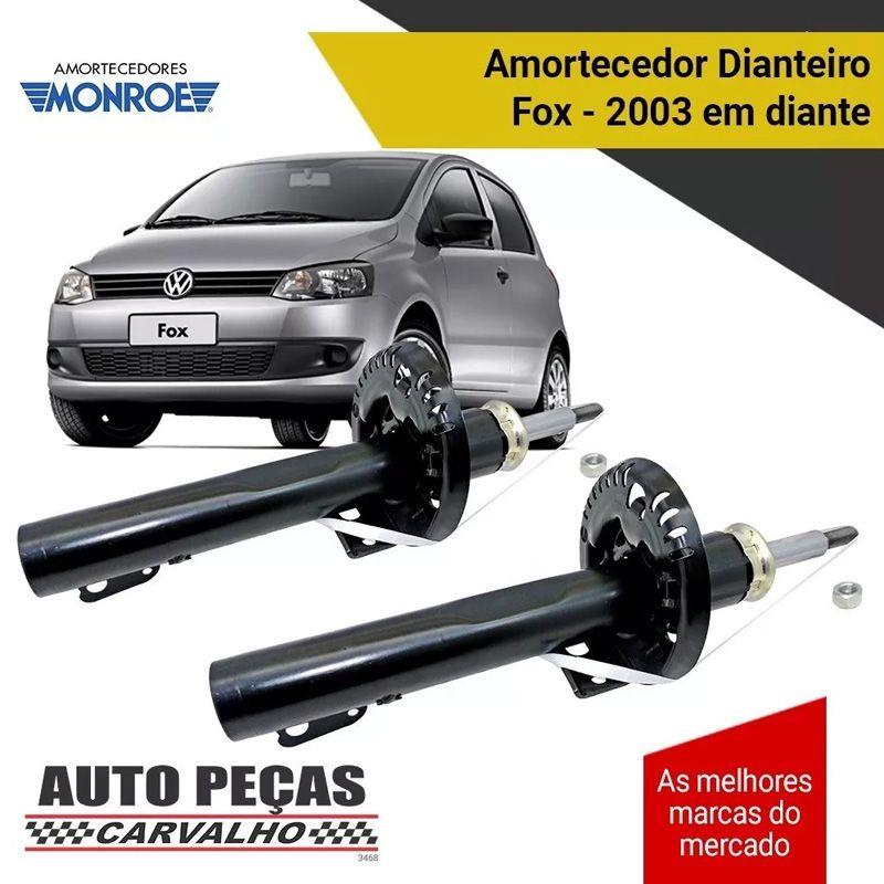 Par de Amortecedor Dianteiro (MONROE) - Volkswagen Fox - 2003 2004 2005 2006 2007 2008 2009 2010 2011 2012 2013 2014 2015 2016 2017 2018 2019