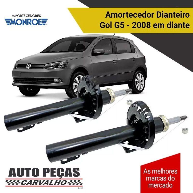 Par de Amortecedor Dianteiro (MONROE) - Volkswagen Gol G5 1.0 / 1.6 - 2008 2009 2010 2011 2012 2013 2014 2015 2016 2017 2018 2019