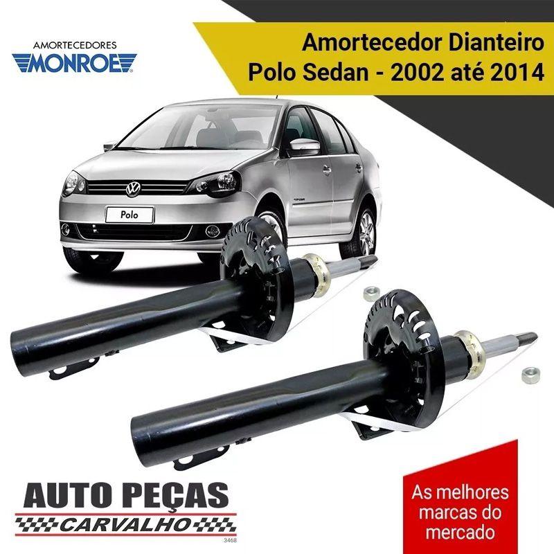 Par de Amortecedor Dianteiro (MONROE) - Volkswagen Polo Sedan - 2002 2003 2004 2005 2006 2007 2008 2009 2010 2011 2012 2013 2014