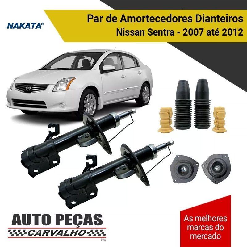 Par de Amortecedor Dianteiro (NAKATA) + Kit Batente - Nissan Sentra - 2007 2008 2009 2010 2011 2012