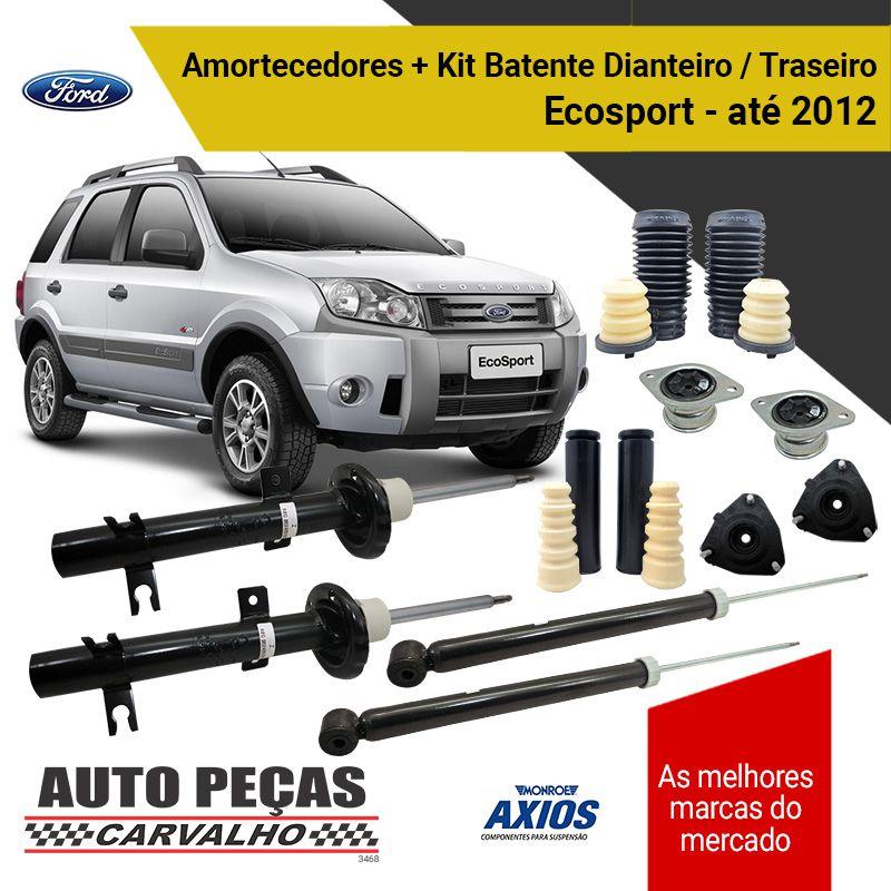 Par de Amortecedores Dianteiro e Traseiro (FORD) + Kit Batente Completo Ecosport - 2003 2004 2005 2006 2007 2008 2009 2010 2011 2012