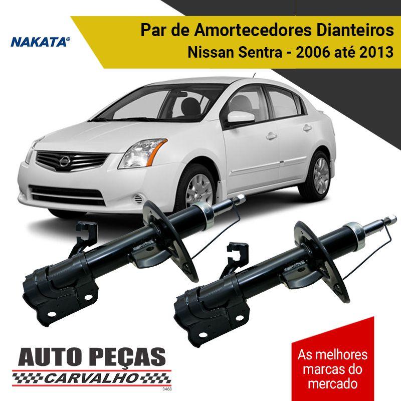 Par de Amortecedores Dianteiro (NAKATA) - Nissan Sentra - 2006 2007 2008 2009 2010 2011 2012