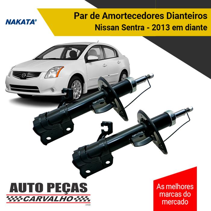 Par de Amortecedores Dianteiro (NAKATA) - Nissan Sentra - 2013 em diante
