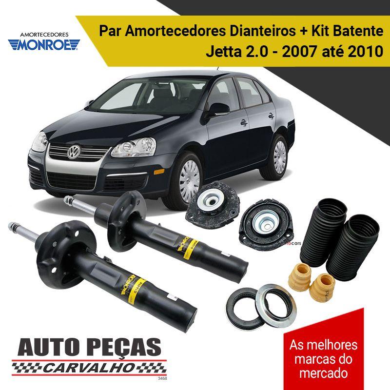 Par de Amortecedores Dianteiros (MONROE) + Kit Batente - Jetta 2.0 - 2011 2012 2013 2014 2015 2016 2017 2018