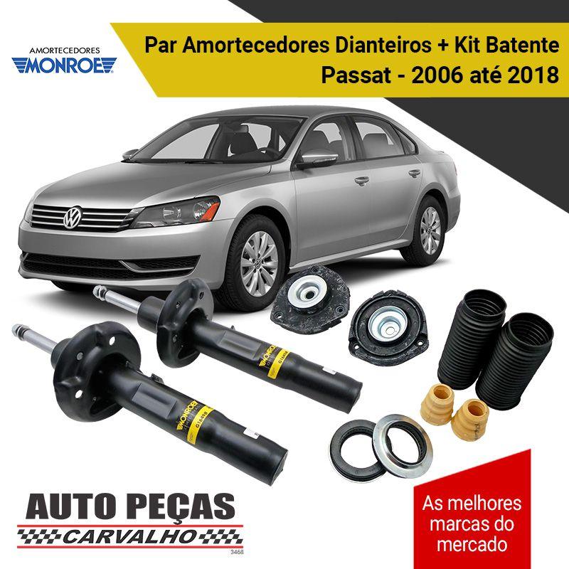 Par de Amortecedores Dianteiros (MONROE) + Kit Batente - Passat / Variant - 2006 2007 2008 2009 2010 2011 2012 2013 2014 2015 2016 2017 2018