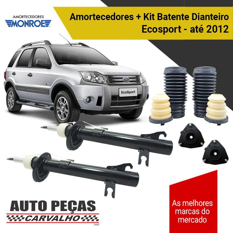 Par de Amortecedores Dianteiros (MONROE) + Kit Batente (V8) Ecosport - 2003 até 2012