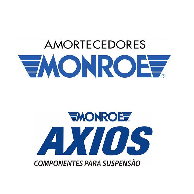 Par de Amortecedores Dianteiros (MONROE) + Kit Batentes + Coxins (AXIOS) - Fox 2003 em diante