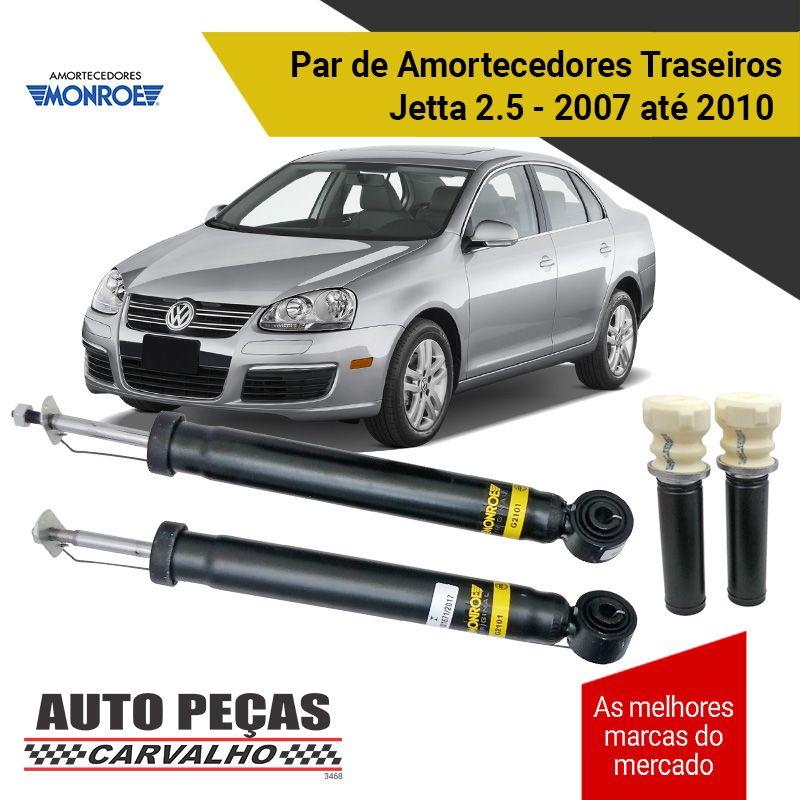 Par de Amortecedores Traseiros (MONROE) + Kit Batente - Volkswagen Jetta 2.5 - 2007 2008 2009 2010