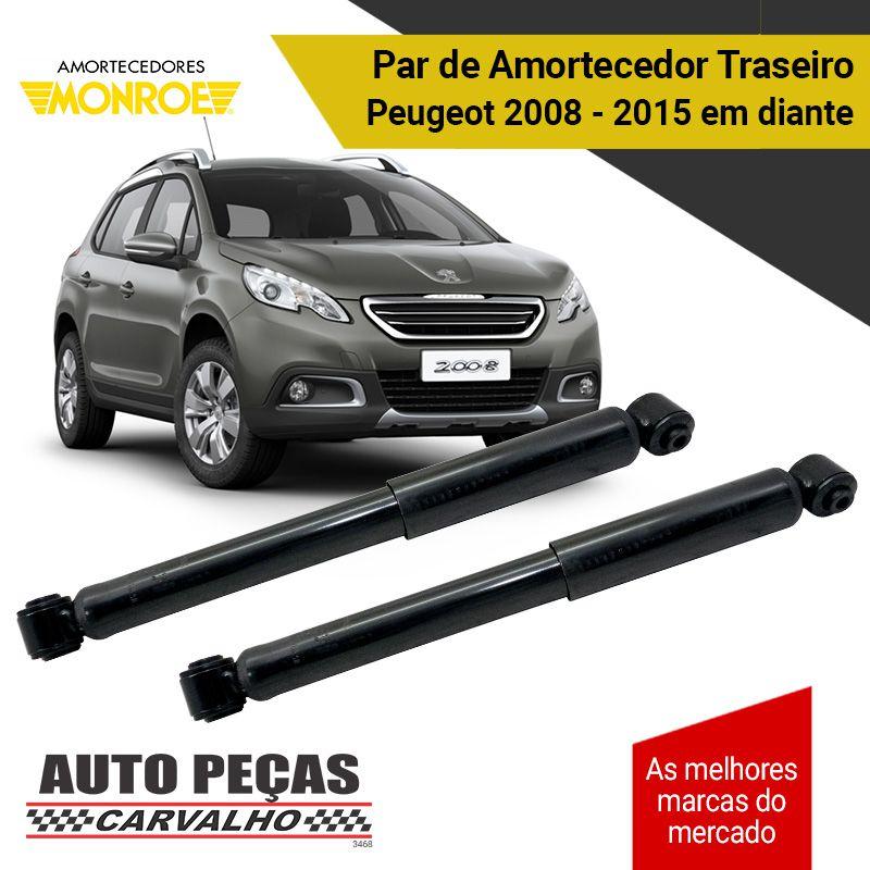 Par de Amortecedores Traseiros (MONROE) - Peugeot 2008 - 2015 2016 2017 2018 2019