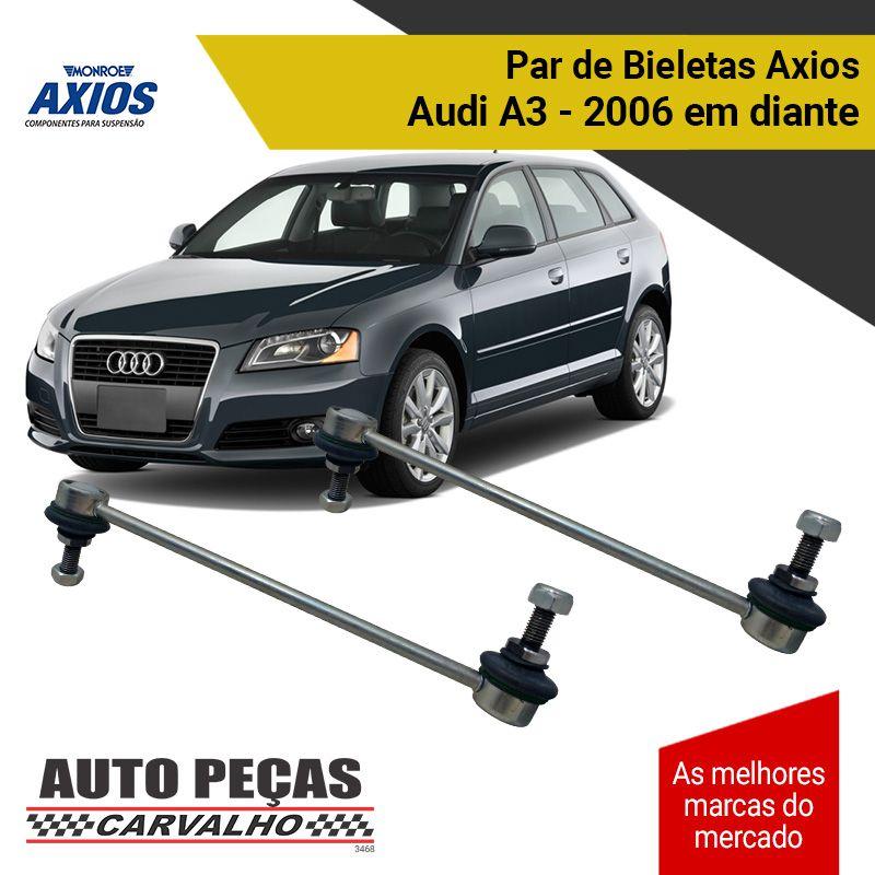 Par de Bieletas (AXIOS) - Audi A3 - 2006 2007 2008 2009 2010 2011 2012 2013 2014 2015 2016 2017 2018 2019 2020
