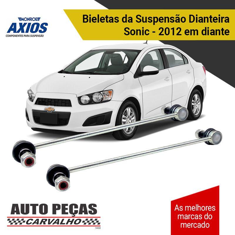Par de Bieletas da Suspensão Dianteira (AXIOS) - Chevrolet Cobalt / Onix / Sonic / Spin / Astra / Vectra / Zafira