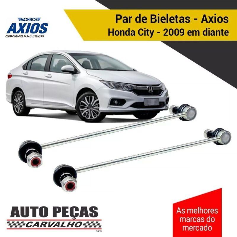 Par de Bieletas Dianteira (AXIOS) - Honda City - 2009 2010 2011 2012 2013 2014 2015 2016 2017 2018 2019