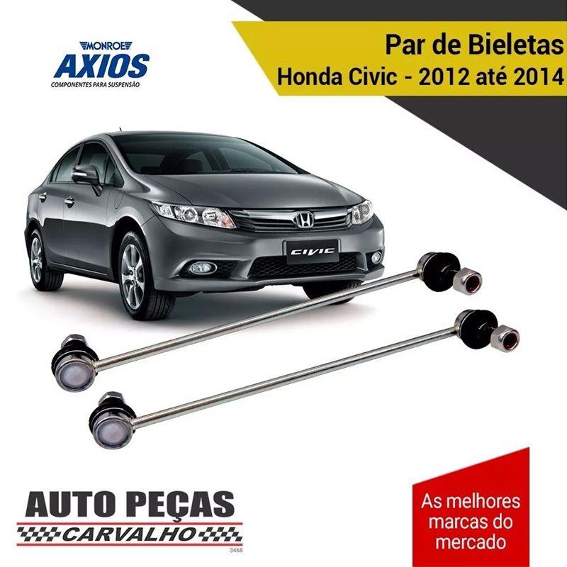 Par de Bieletas Dianteira (AXIOS) - Honda Civic - 2012 2013 2014 (5312680)