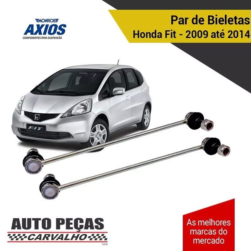 Par de Bieletas Dianteira (AXIOS) - Honda Fit - 2009 2010 2011 2012 2013 2014 (5312680)