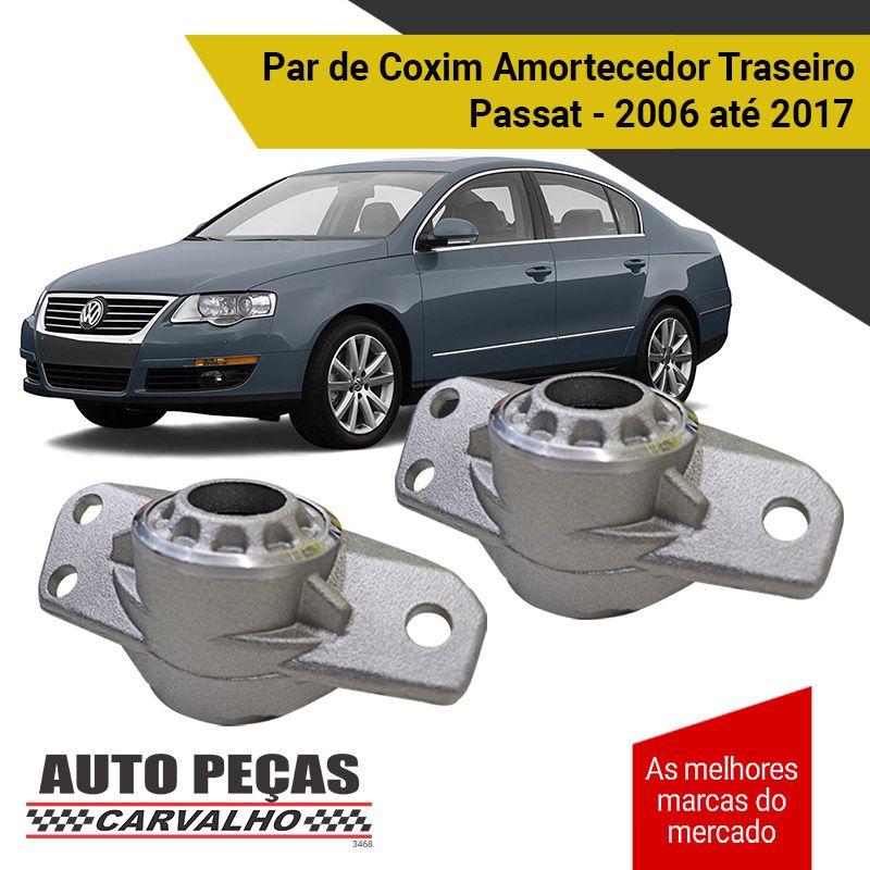 Par de Coxim Amortecedor Traseiro - Volkswagen Passat - 2006 2007 2008 2009 2010 2011 2012 2013 2014 2015 2016 2017