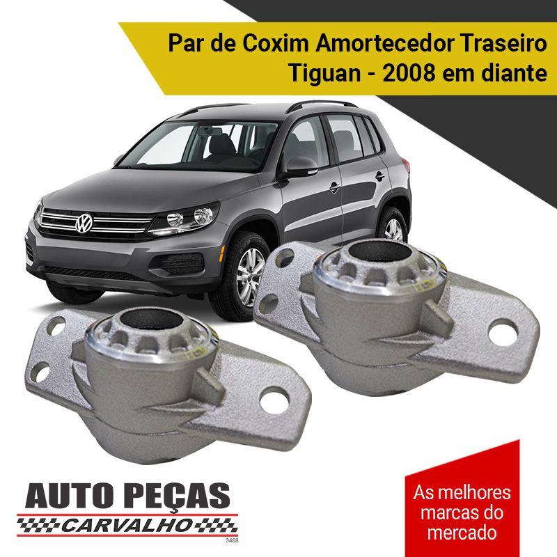 Par de Coxim Amortecedor Traseiro - Volkswagen Tiguan - 2008 2009 2010 2011 2012 2013 2014 2015 2016 2017 2018 2019 2020