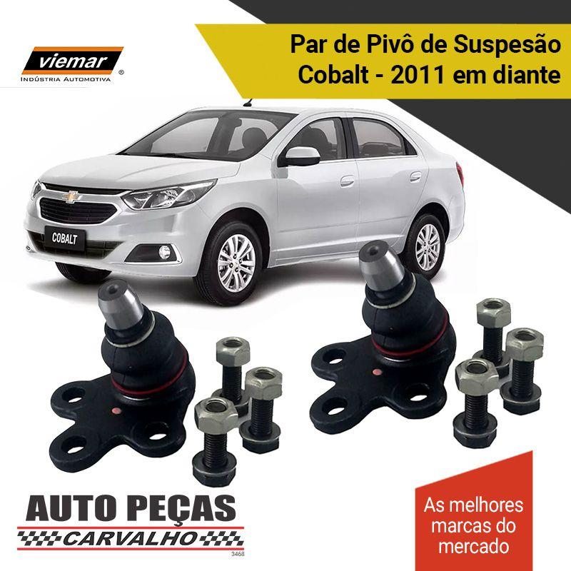 Par de Pivô de Suspensão (VIEMAR) - Chevrolet Cobalt - 2011 2012 2013 2014 2015 2016 2017 2018 2019