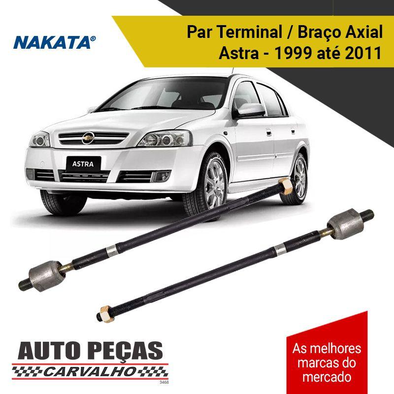 Par de Terminal de Direção (Braço Axial) - Marca Nakata - Astra / Vectra / Zafira