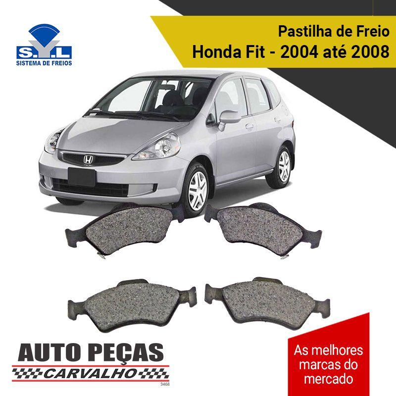 Pastilha de Freio Dianteiro Honda Fit - 2004 2005 2006 2007 2008 (todos os modelos)