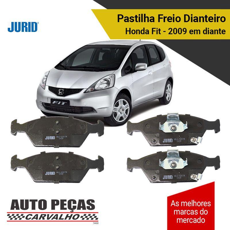 Pastilhas de Freio Dianteiro (JURID) - Honda Fit - 2009 2010 2011 2012 2013 2014 2015 2016 2017 2018 2019 2020