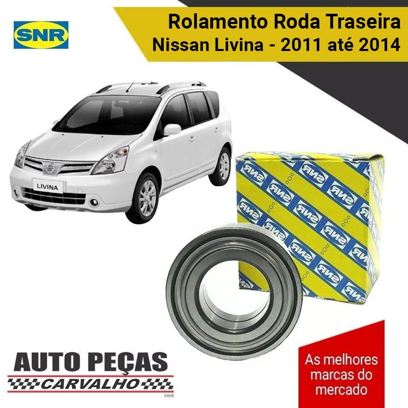 Rolamento Roda Traseira (SNR) - Nissan Livina - 2011 2012 2013 2014