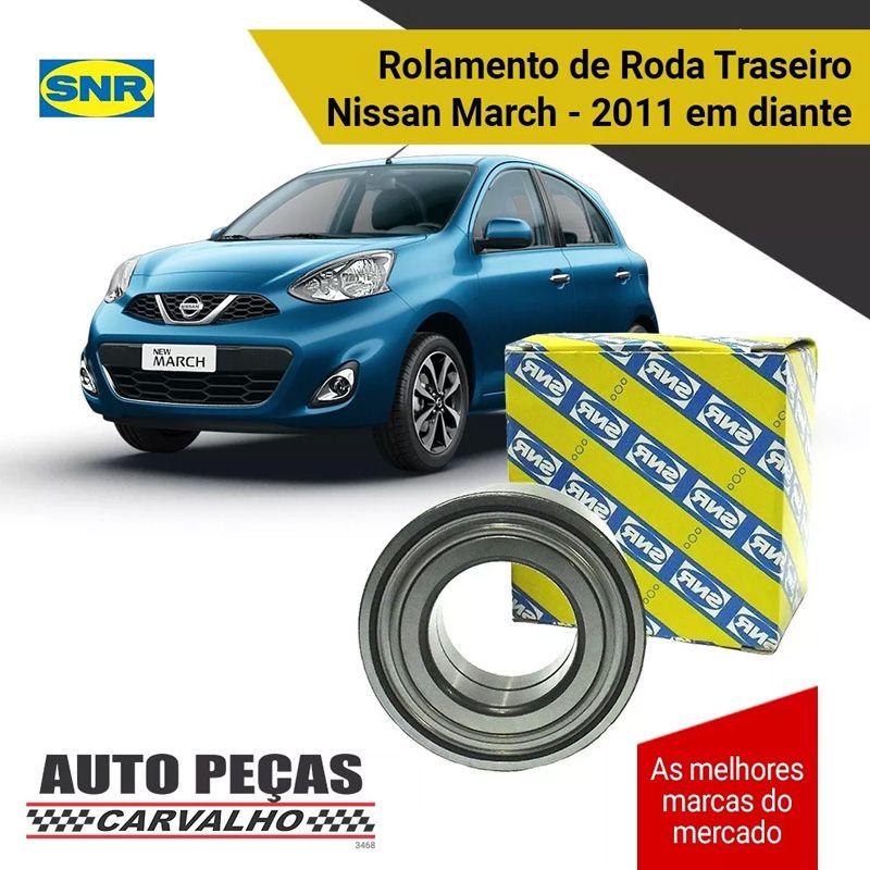 Rolamento Roda Traseira (SNR) - Nissan March - 2011 2012 2013 2014 2015 2016 2017 2018 2019