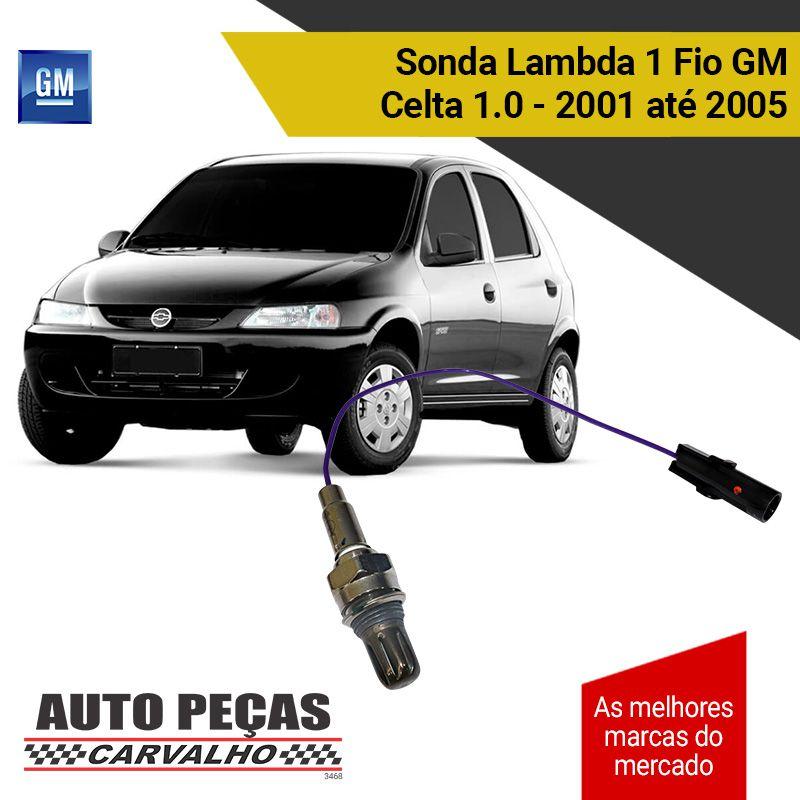 Sonda Lambda 1 Fio (GM) - GM Celta 1.0 – 2001 2002 2003 2004 2005 (A GASOLINA)