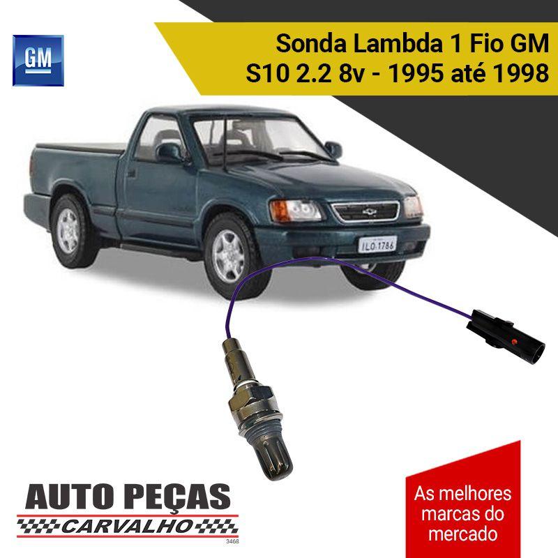 Sonda Lambda 1 Fio (GM) - GM S10 2.2 8v - 1995 1996 1997 1998
