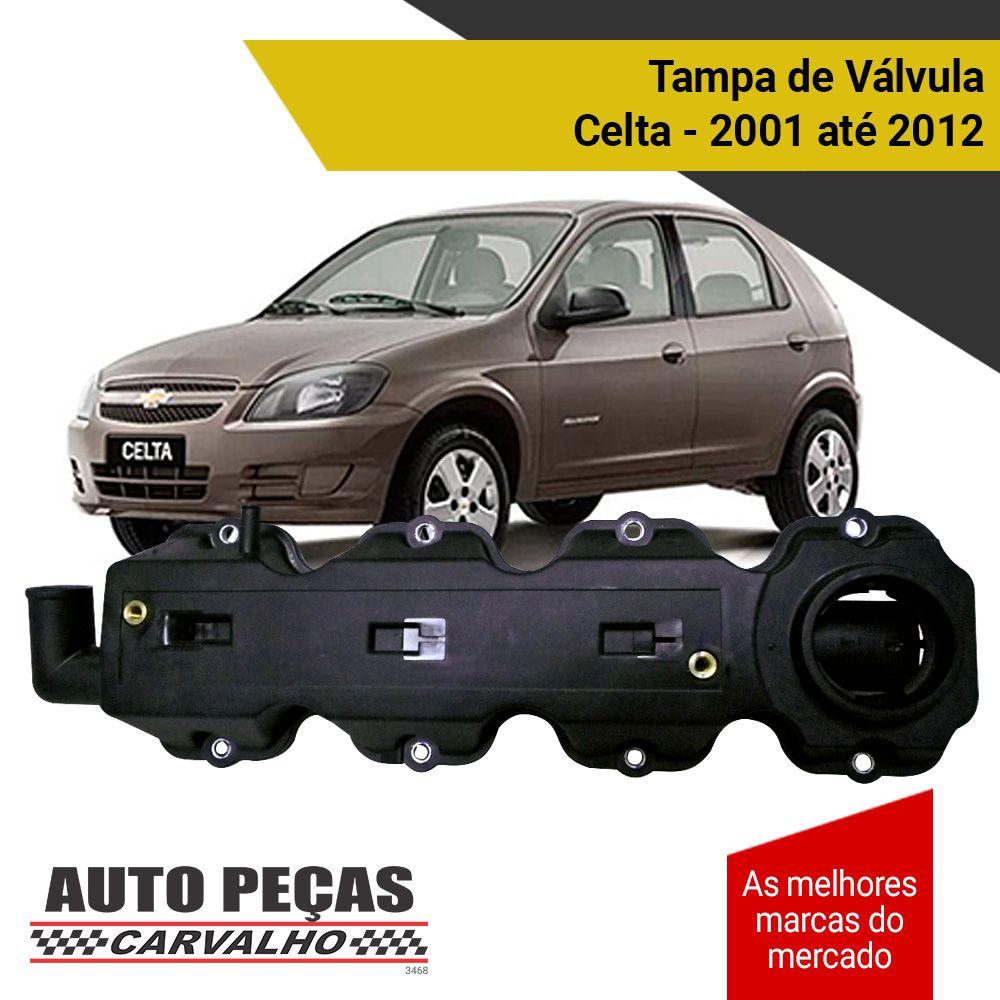Tampa de Válvula - Chevrolet Celta - 2001 2002 2003 2004 2005 2006 2007 2008 2009 2010 2011 2012 (todos os modelos)