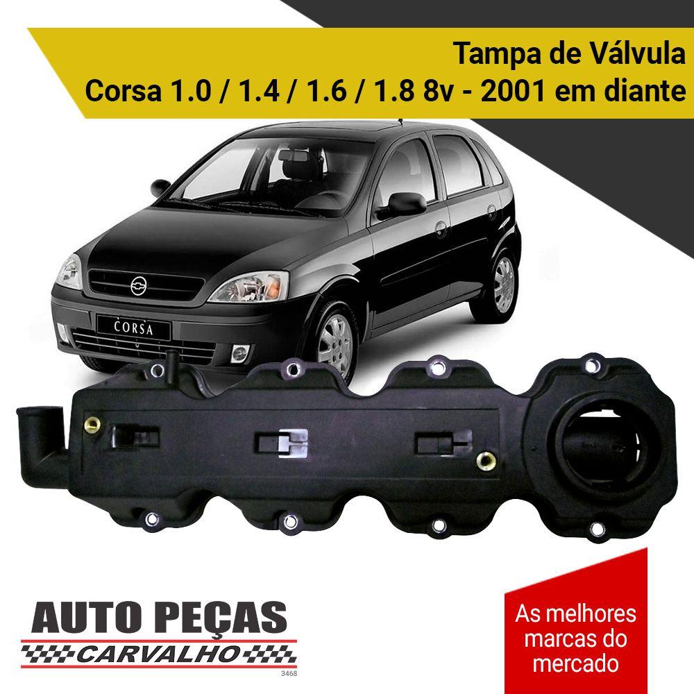 Tampa de Válvula - Corsa 1.0 / 1.4 / 1.6 / 1.8 8v - 2001 2002 2003 2004 2005 2006 2007 2008 2009 2010 2011 2012 2013 2014 2015 2016 2017 2018 2019 (todos os modelos)