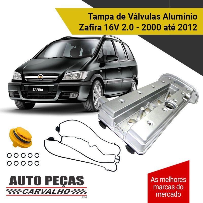 Tampa de Valvulas Aluminio - Zafira 16v -2000 2001 2002 2003 2004 2005 2006 2007 2008 2009 2010 2011 2012