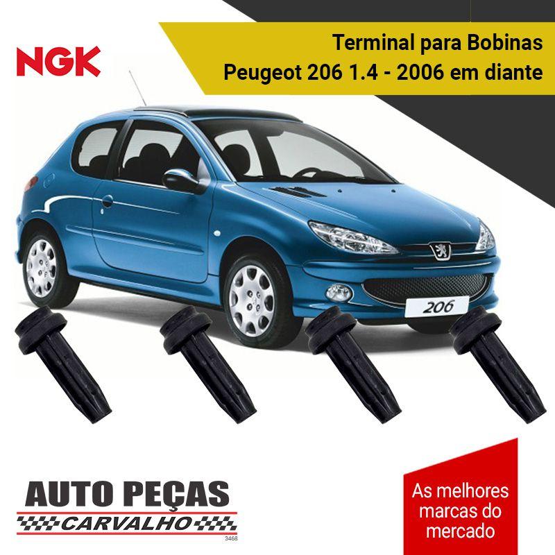 Terminal de Bobina (NGK) - Peugeot 206 1.4 / 1.4 Flex / SW 1.4 - 2006 2007 2008 2009 2010 2011 2012 2013 2014 2015 2016 2017 2018 2019