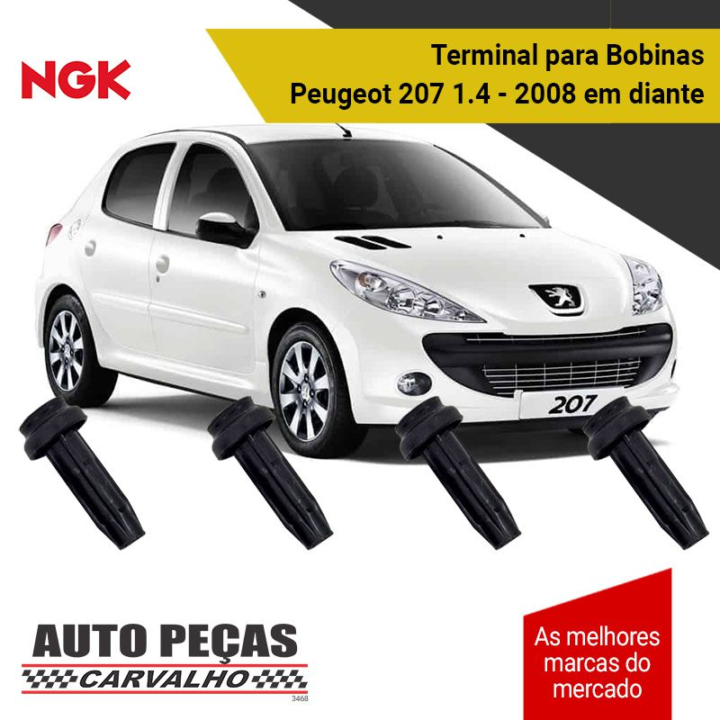 Terminal de Bobina (NGK) - Peugeot 207 1.4 Flex / SW 1.4 - 2008 2009 2010 2011 2012 2013 2014 2015 2016 2017 2018 2019