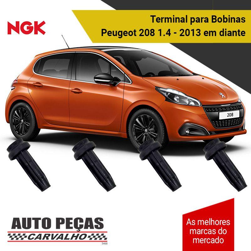 Terminal de Bobina (NGK) - Peugeot 208 1.5 8v - 2013 2014 2015 2016 2017 2018 2019