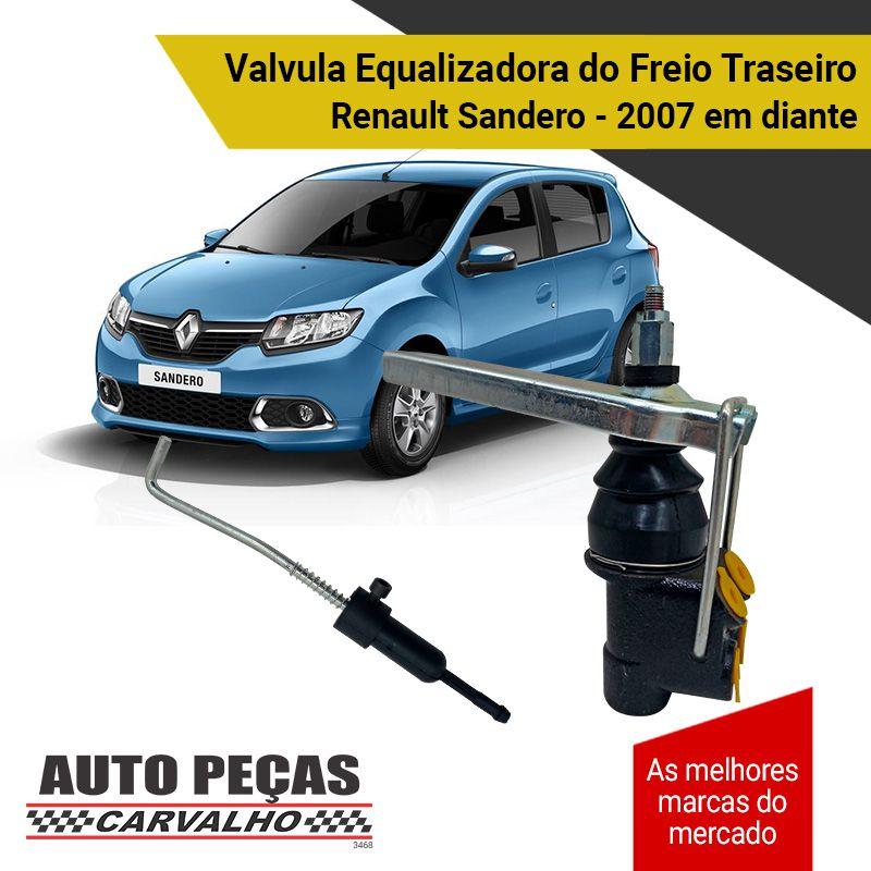 Valvula Equalizadora do Freio Traseiro - Renault Sandero - 2007 2008 2009 2010 2011 2012 2013 2014 2015 2016 2017 2018 2019