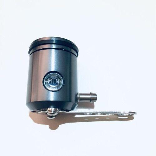 Reservatório fluído de freio com visor saída pela direita Cinza